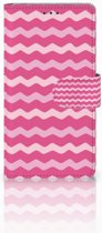 Sony Xperia Z Bookcover Waves Pink