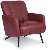 Lanterfant® Loungestoel Bradley – Rood – Vegan leather – Fauteuil