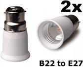 2 Stuks - B22 naar E27 Fitting Omvormer