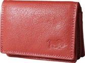 Leren portemonnee van Arrigo gemaakt van soepel rood rundleer
