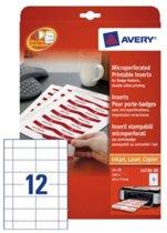 40x75mm Badge Insteekkaart Avery L4726-20