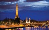 Fotobehang Parijs, Steden | Blauw | 312x219cm