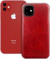 Pierre Cardin - echt lederen backcover hoes - iPhone 11 - Rood