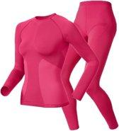 Odlo Evolution set - Sportshirt/ broek - Dames - Rose - Maat L