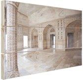 Fort van Agra India Hout 120x80 cm - Foto print op Hout (Wanddecoratie)