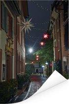 De gezellige straten in het Duitse Freiburg Poster 80x120 cm - Foto print op Poster (wanddecoratie woonkamer / slaapkamer) / Europese steden Poster