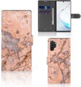 Bookcase Samsung Galaxy Note 10 Plus Marmer Oranje