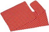 Goki Poppenbeddengoed - Rood met Witte Stippen