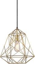 QAZQA framework hl - Hanglamp - 1 lichts - H 1350 mm - Goud/messing