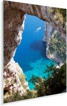 Foto door natuurlijke boog op zee Plexiglas 20x30 cm - klein - Foto print op Glas (Plexiglas wanddecoratie)