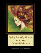 Spring Butterfly Woman: Fantasy Cross Stitch Pattern
