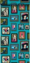 Origin behang schilderijen turquoise