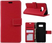 GSMWise - Samsung Galaxy S8 - Textuur Lederen Portemonnee Hoesje met Kaarthouder - Rood