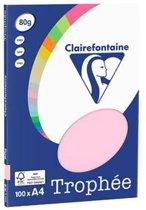 Clairefontaine Trophée - roze - kopieerpapier- A4 80 gram - 100 vellen