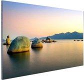 Itaguacu strand Aluminium 90x60 cm - Foto print op Aluminium (metaal wanddecoratie)