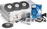 Philips PocketMemo Vergaderrecorder DPM8900/02, 4x 360° microfoon/32 pers., accessoires, metale draagkoffer, SpeechExec Basic Dictate 11, 2-jaar licentie