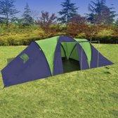 vidaXL - Kampeertent 9 - Visavis tent - 9-Persoons - Blauw;Groen