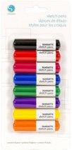 Sketch Pen Basics Pack - 8 stuks (Silhouette Cameo of Curio)