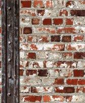 Dutch Wallcoverings vinylbehang baksteen/metaal
