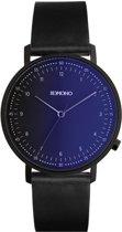 Komono Crafted Lewis Midnight horloge dames en heren - zwart - edelstaal PVD zwart