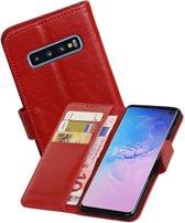 Zakelijke Bookstyle Hoesje voor Samsung Galaxy S10 Rood