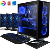 Warrior 7 Game PC - 4.0GHz AMD 4-Core CPU, GTX 1060, Gaming Desktop PC met 3x Triple 22