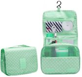 eCarla Travel Ophangbare Toilettas met Haak – Make Up Bag Hanging - Travel Organizer en Etui - Reis Toiletzak - Dames en Heren - Camping - Reizen – Groen
