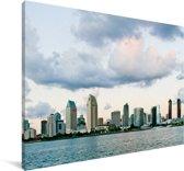 De skyline van San Diego in de Amerikaanse staat Californië Canvas 140x90 cm - Foto print op Canvas schilderij (Wanddecoratie woonkamer / slaapkamer)