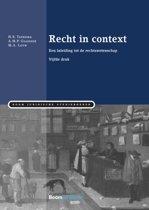 Boek cover Boom Juridische studieboeken - Recht in context van H.S. Taekema (Paperback)