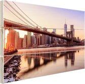 FotoCadeau.nl - Manhattan vanuit Brooklyn bridge park Hout 30x20 cm - Foto print op Hout (Wanddecoratie)