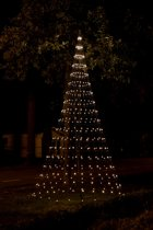 Nordik Lights - 4M - Vlaggenmast Kerstboom - 448 LED lampjes - warm wit - incl. mast