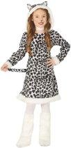 Dierenpak luipaard verkleedjurkje voor meisjes - carnavalskleding/outfit luipaard 10-12 jaar (140-152)