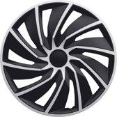 AutoStyle 4-Delige Wieldoppenset Turbo 16-inch zilver/zwart