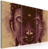 Schilderij - Boeddha , 3 luik