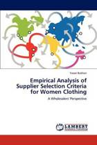 Empirical Analysis of Supplier Selection Criteria for Women Clothing