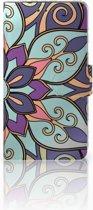 LG Q6 | LG Q6 Plus Boekhoesje Design Purple Flower