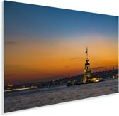 Adembenemende zonsondergang boven Istanbul Plexiglas 120x80 cm - Foto print op Glas (Plexiglas wanddecoratie)