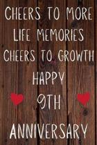 Cheers To More Life Memories Cheers To Growth Happy 9th Anniversary: Funny 9th Cheers to more life memoreis cheers to growth happy anniversary Birthda