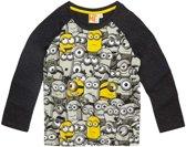 Minions-T-shirt-met-lange-mouw-grijs-maat-128