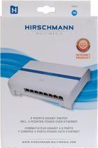 8 poorts Gigabit switch met 4 PoE poorten