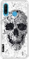 Casetastic Softcover Huawei P30 Lite - Doodle Skull BW