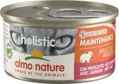 Almo Nature Natvoer voor Katten- Holistic Maintenance Mousse - 24 x 85g - Ham
