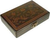 Mah-Jong in luxe houten koffer XS