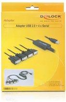 DeLOCK 61887 kabeladapter/verloopstukje USB 2.0 RS-232 Zwart