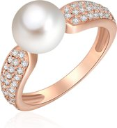 Valero Pearls parel Ring - Sterling zilver - Ros�goud