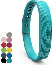 Siliconen sportbandjes voor de Fitbit Flex 2 met druksluiting - Turquoise