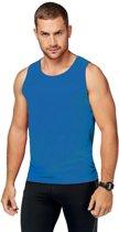 Blauw sport singlet voor heren - maat M - sport hemdje