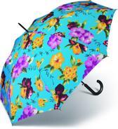 Adventure Bags Paraplu - Tropical Flowers - AC Long - Blauw