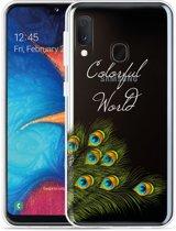 Galaxy A20e Hoesje Peacock World