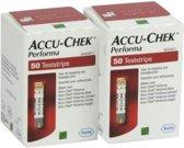 2X 50 strips Accu Chek Performa actiepakket